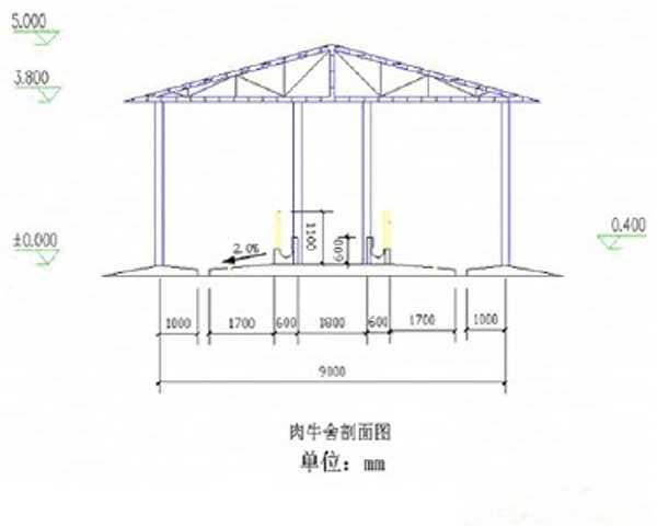 养牛场设计图及建设方案