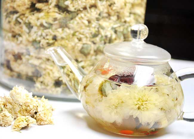 黄芪枸杞菊花茶的做法