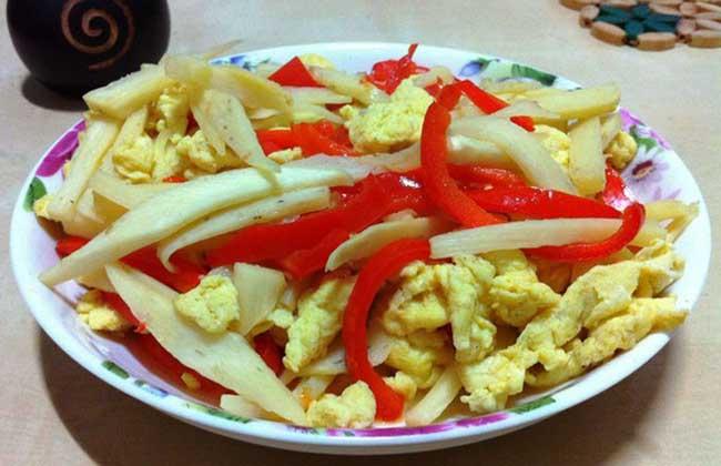 茭白炒鸡蛋的做法