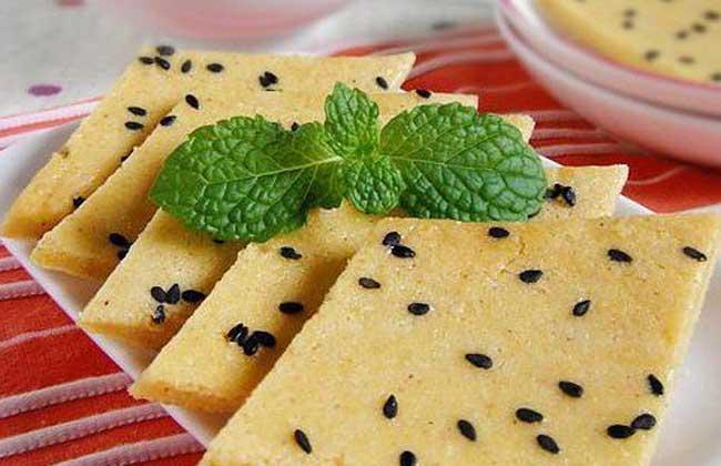黑芝麻玉米面粉糕