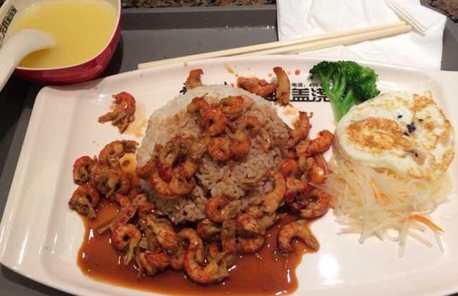 小龙虾盖浇饭的做法