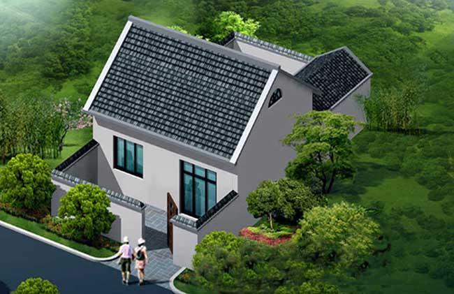 农村一层房屋效果图
