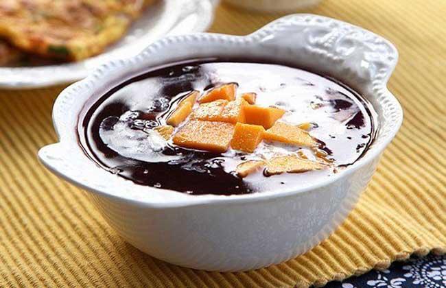 芒果黑米粥