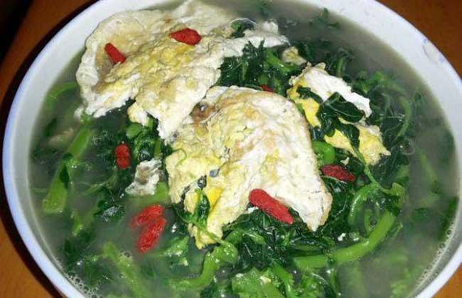 苋菜鸡蛋汤