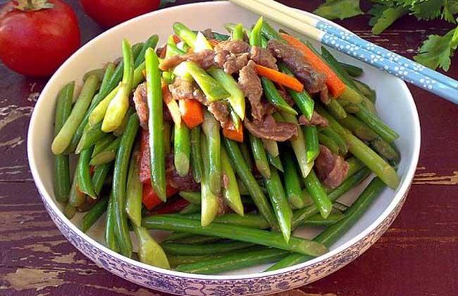 蚝油蒜苔牛肉