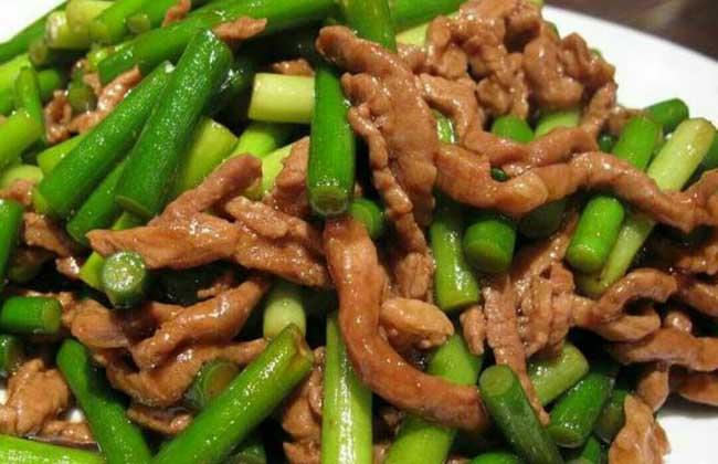 蒜苔炒肉的功效及做法