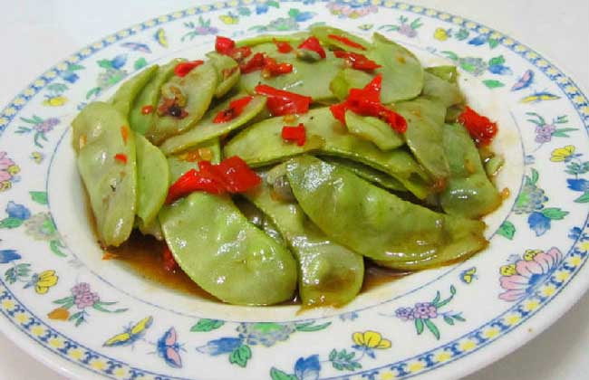 清炒白扁豆