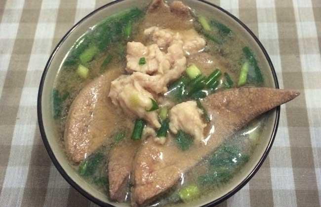葱花猪肝汤