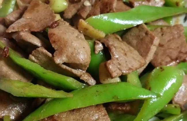 青椒炒猪肝的功效及做法