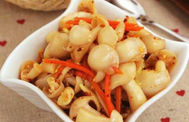 凉拌白玉菇