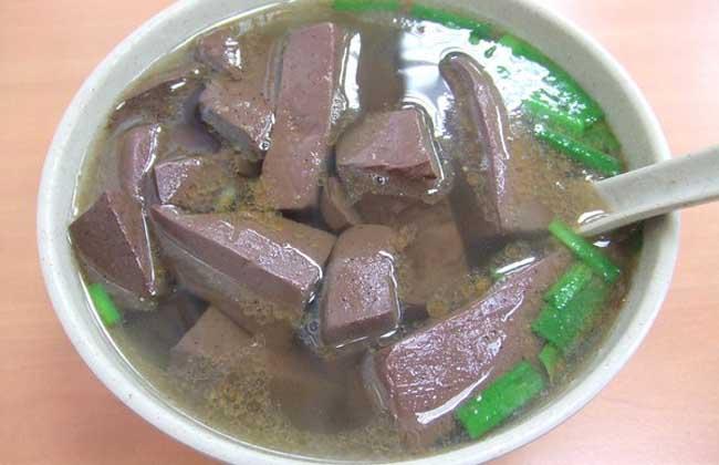 豆瓣菜猪血汤