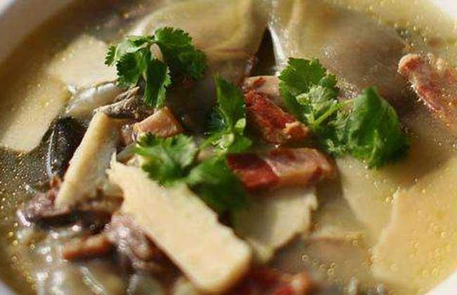 冬笋肉片汤