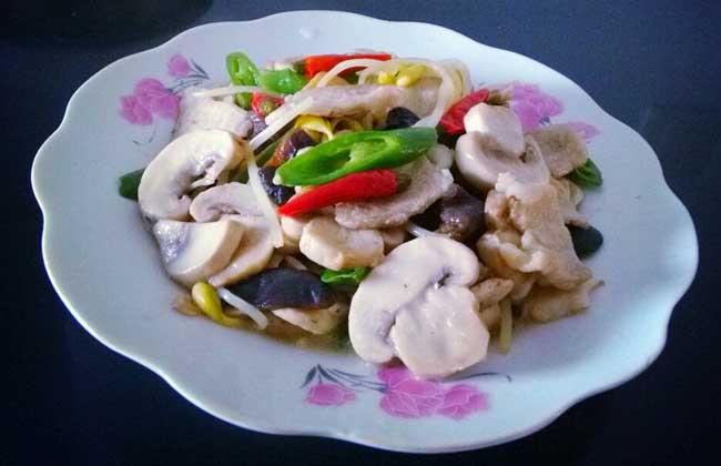 蘑菇炒肉的功效及做法