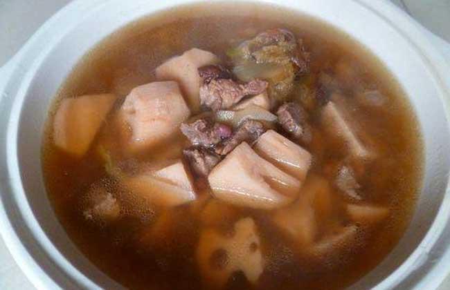 莲藕牛腩汤